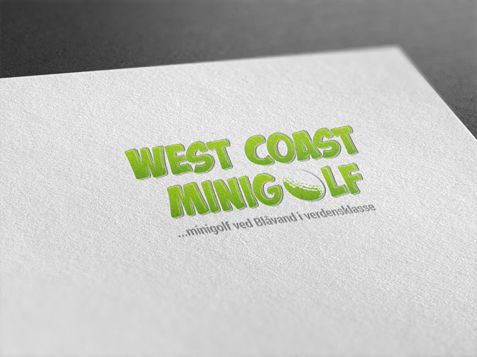 West Coast Minigolf opdatering af visuel identitet og website redesign - Logo på papir