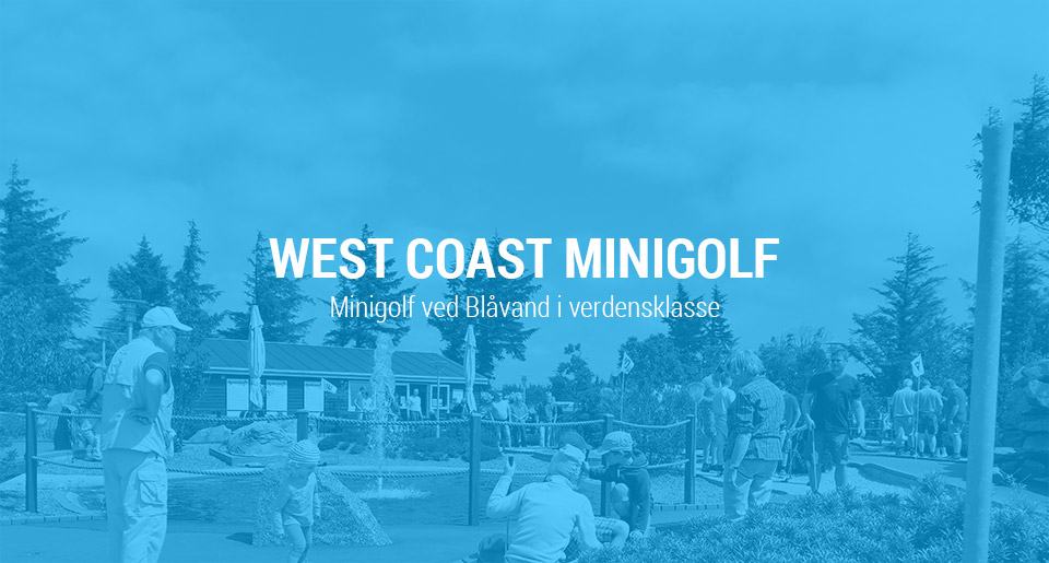 West Coast Minigolf opdatering af visuel identitet og website redesign - Intro