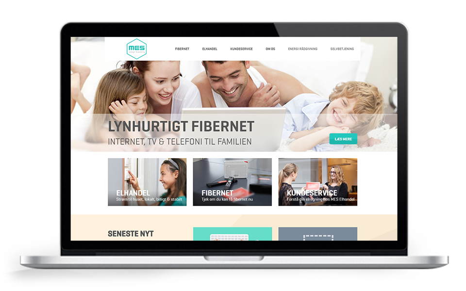 MES opdatering af visuel identitet og website redesign - Responsive website