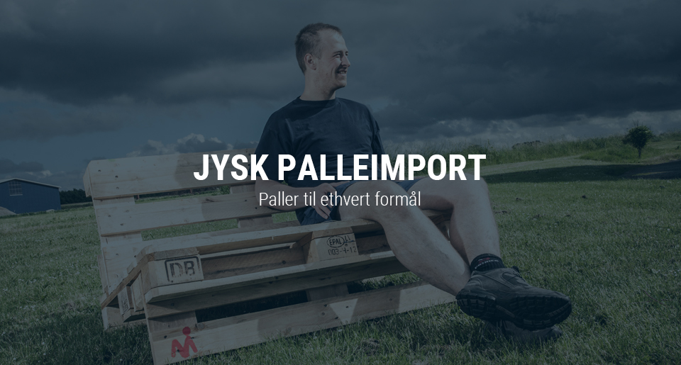 Jysk Palleimport opdatering af visuel identitet og website redesign - intro